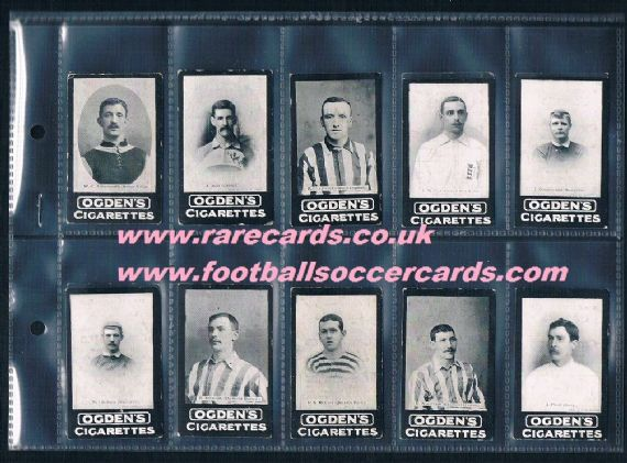 1901 Ogden's Our Leading Footballers SET 17
